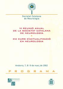 Portada programa VI Reunió Anual SCN 2002