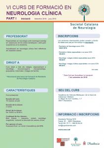 Portada programa VI curs formació neurologia clínica part 1 iniciació SCN