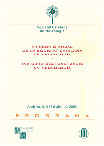 Portada programa VII Reunió Anual SCN 2003