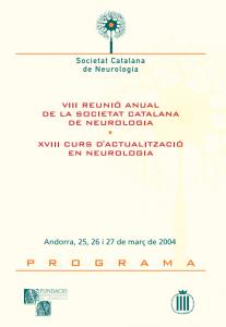 Portada programa VIII Reunió Anual SCN 2004