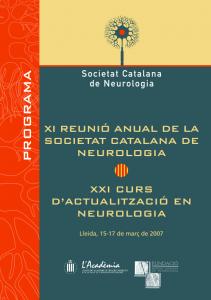Portada programa XI Reunió Anual SCN 2007