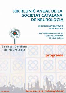 Portada programa XIX Reunió Anual SCN 2015