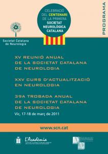 Portada programa XV Reunió Anual SCN 2011