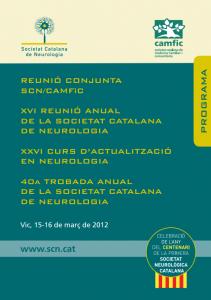 Portada programa XVI Reunió Anual SCN 2012
