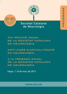 Portada programa XVII Reunió Anual SCN 2013