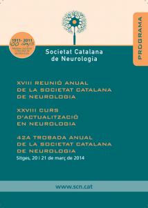 Portada programa XVIII Reunió Anual SCN 2014