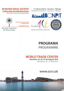 Portada programa XX Reunió Anual SCN 2016