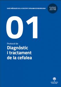 Imatge portada Actualització Guia Mèdica Cefalees 2018 de la Societat Catalana de Neurologia