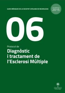 Imatge portada Actualització Guia Mèdica Esclerosi Múltiple 2015 de la Societat Catalana de Neurologia