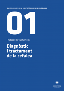 Imatge portada Guia Mèdica Cefalees 2011 de la Societat Catalana de Neurologia