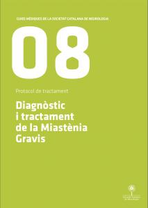 Imatge portada Guia Mèdica Miastènia Gravis 2011 de la Societat Catalana de Neurologia