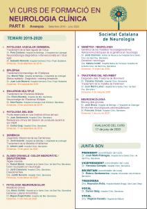 Portada VI Curs de formació en Neurologia Clínica. Part II - Avenços_2019