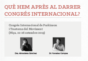 Congrés Internacional de Parkinson i Trastorns del Moviment – Niça 2019