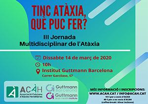 III Jornada Multidisciplinar de l'Atàxia. Tinc Atàxia, què puc fer?